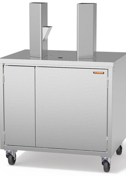Иноксов кабинет с размери 780 (h) x 800 (l) x 600 (d) mm
