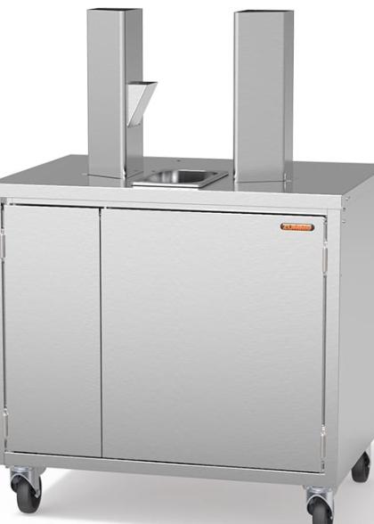 Иноксов КАБИНЕТ с размери 780 (h) x 800 (l) x 600 (d) mm и гастроном