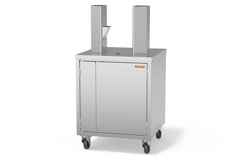 Иноксов кабинет с размери 780 (h) x 610 (l) x 600 (d) mm